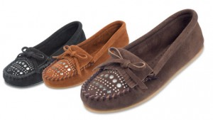 Womens Studded Moccasin