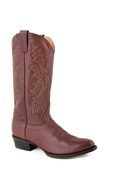 Mens Stetson Brown Handburnished Ficcini Boot