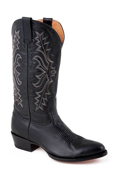 Mens Stetson Black Handburnished Boot