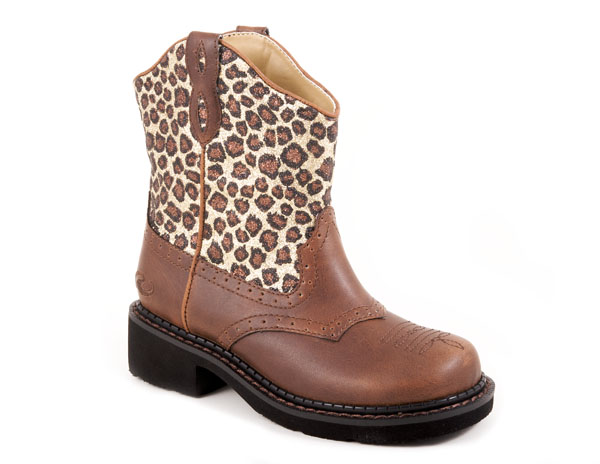 Toddlers Roper Brown Leopard Animal Print