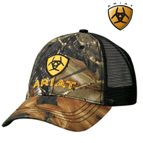 Ariat Embroidery Logo with Camo Ball Cap 15816222