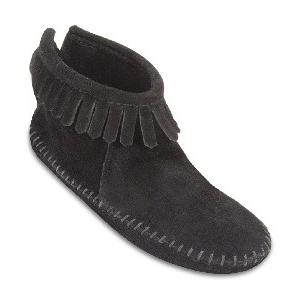 Womens Back Zipper Boot Black