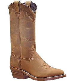 Mens Abilene Distressed Brown Cowboy Boot
