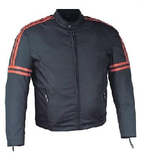Mens Black and Orange Jacket