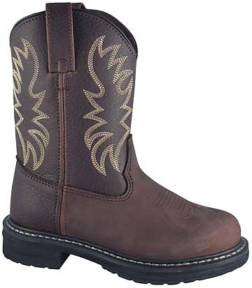 Smoky Boots Children Brown Leather Buffalo