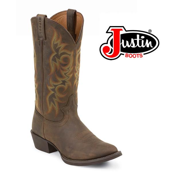 "Men's Justin 13"" Brown Sorrel Apache Round-Toe 2551"