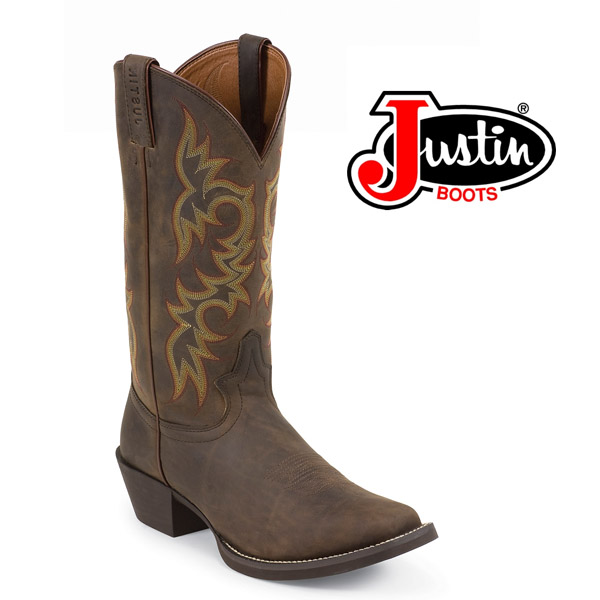 "Men's Justin 13"" Brown Sorrel Apache Square-Toe 2552"
