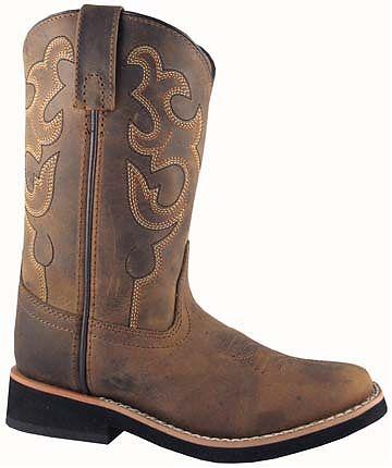 Smoky Boots Childrens Leather Pueblo Brown