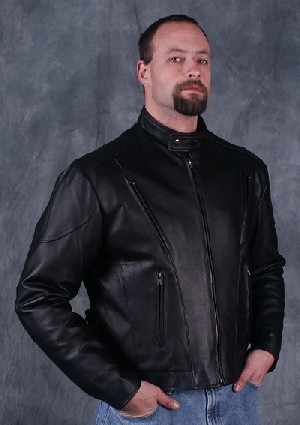 Vented Leather Coat
