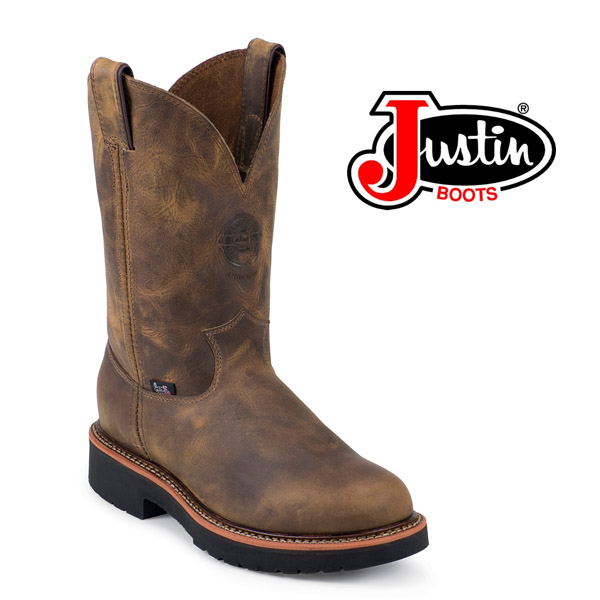 "Men's Justin 11"" Rugged Tan Gaucho Work Boot 4440"