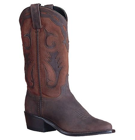 Womens Sage Western Distressed Brown Boot