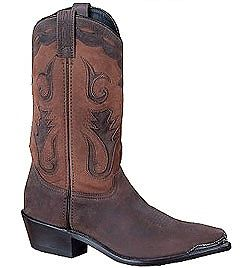 Mens Sage Two-Tone Brown Western Cowboy Boot