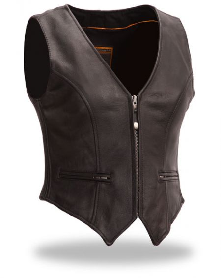 Leather Vest Ladies
