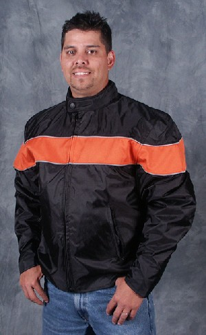 Orange Stripe Waterproof Jacket