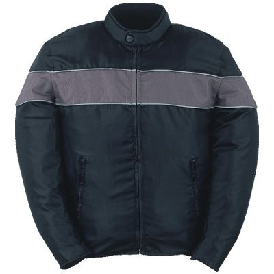 Silver Stripe Waterproof Jacket
