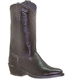 Abilene Mens Black Cowhide Cowboy Boot