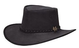 Mens Stockman Suede Black BC Hat