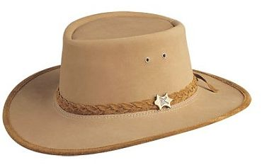 Mens Stockman Suede Camel BC Hat