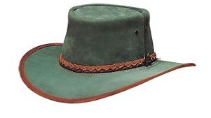 Mens Stockman Suede Forest Green BC Hat