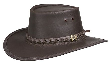 Stockman Oily Leather Brown BC Hat