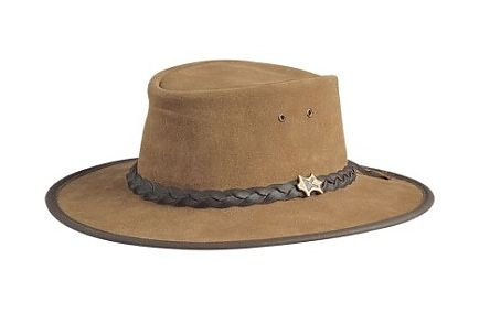 Bushwalker Rough Out Bark Leather BC Hat
