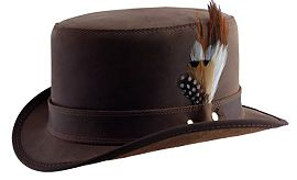 Head N' Home Steampunk Stoker Brown w/ Feather