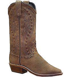 Womens Abilene Sand Nubuck Western Cowgirl Boots