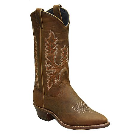 Womens Abilene Olive Brown Western Boot