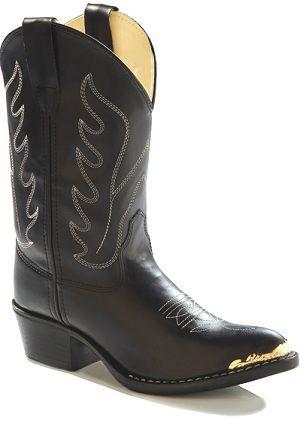 Old West Children's Black Western Kids Boot