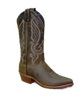 Abilene Men's Olive Brown Cowboy Boot