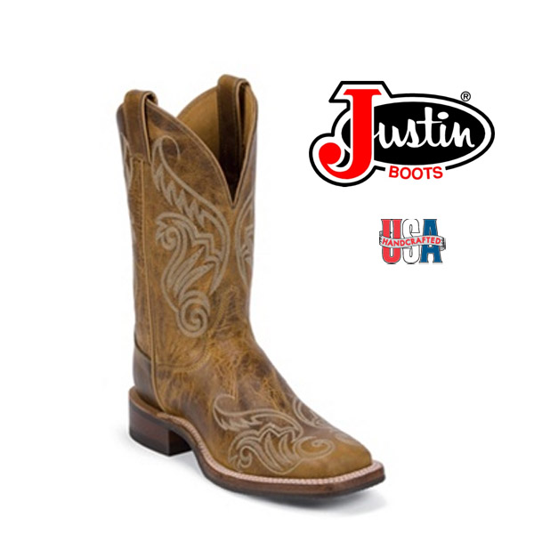 Women's Justin Bent Rail TAN DAMIANA  BRL212