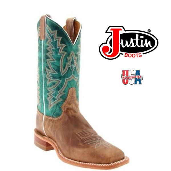 Women's Justin Bent Rail AMERICA BURNISHED TAN BRL317
