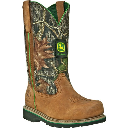 Womens John Deere Steel Toe Brown Walnut Pull-On