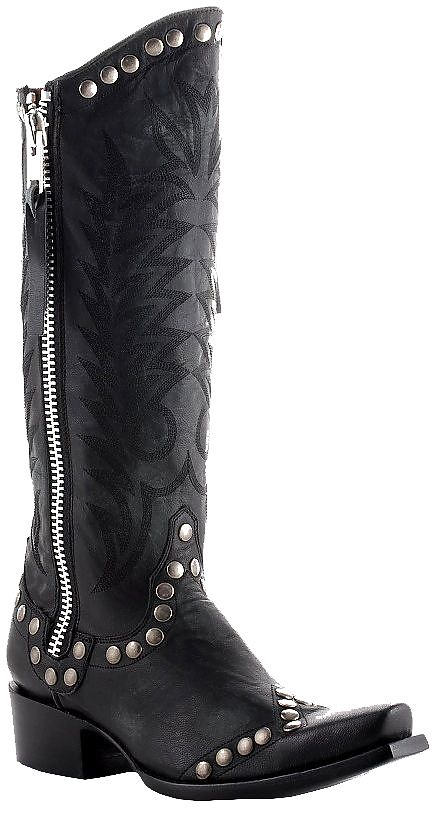 Womens Old Gringo Boots Rock Razz Black