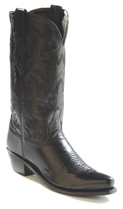 Old West Black Cowboy Boots
