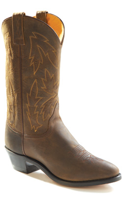 Old West Distressed Brown Mens Boot