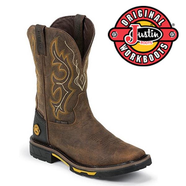 Men's Justin Boots Original RUSTIC BARNWOOD W/P COMPOSITION TOE  WK4625