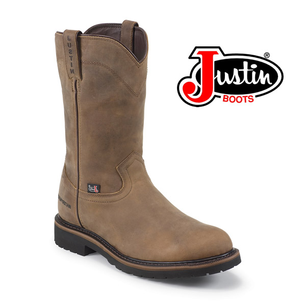 "Men's Justin Wyoming 10"" Waterproof Round Toe Boot WK4960"