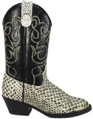 Smoky Boots Children's Western Snakeskin Boots