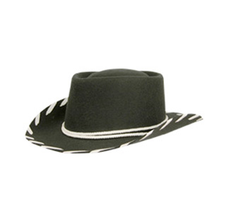 Kids Black Felt Hat Woody