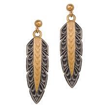 New Classics Hawk Feather Dangle Earrings (ER1011NCF)