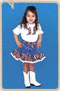 American Flag Cowgirl Denim Set