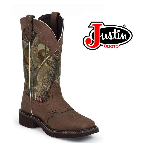Women's Justin Gypsy Bay Real Tree Camo Cowboy Boots L9609