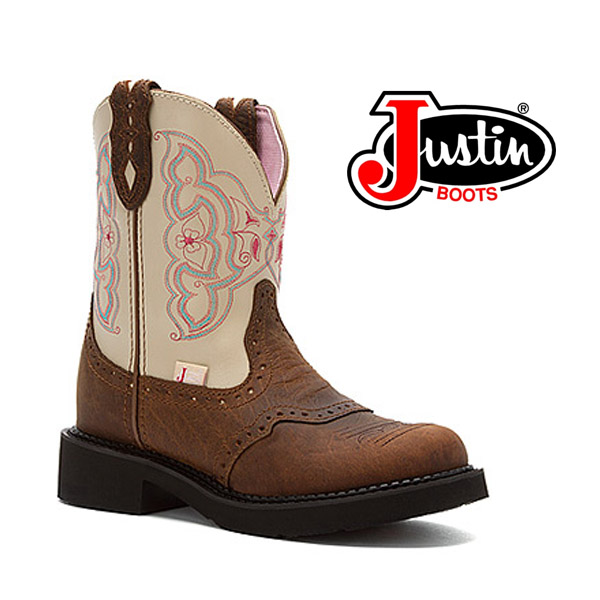 "Women's Justin Gypsy Boots 8"" BARNWOOD BROWN COWHIDE L9924"
