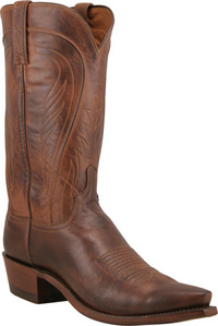 Mens Lucchese 1883 Tan Burnished Ranch Hand Boots