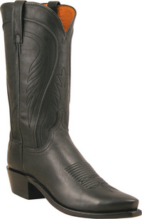 Mens Lucchese 1883 Black Burnished Cowboy Boot