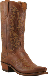 Mens Lucchese 1883 Retro Stitch Tan Burnished Boot