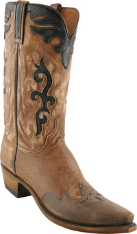 Mens Lucchese 1883 Peanut Destroyed Buffalo Boots with Antique Wingtip