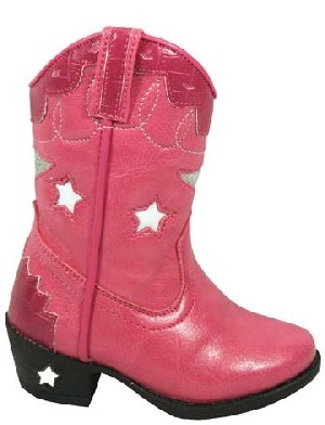 Childrens Pink Cowgirl Austin Lights Boot