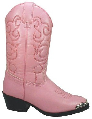 Smoky Boots Childrens Western Boots Pink